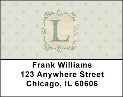 Vintage Monogram L Address Labels | LBBAL-97