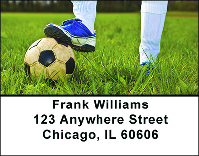 The Game of Soccer Address Labels | LBBAM-05