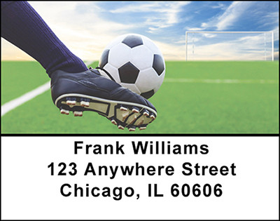 Soccer Kicks Address Labels | LBBAM-06