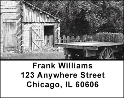 Vintage Farm Buildings Address Labels | LBBAM-78