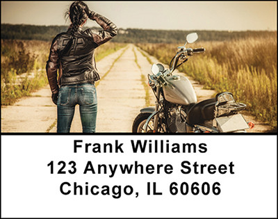Riding Motorcycles Address Labels | LBBAM-95