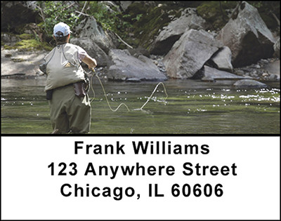 Fly Fishing Streams Address Labels | LBBAN-04