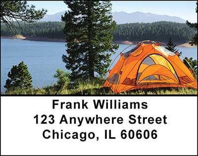 Wilderness Camping Address Labels | LBBAN-71
