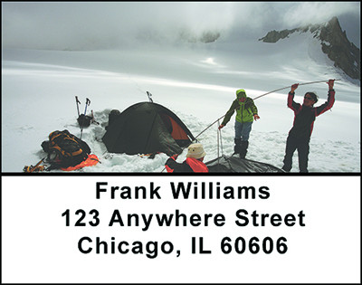 Winter Camping Address Labels | LBBAN-72