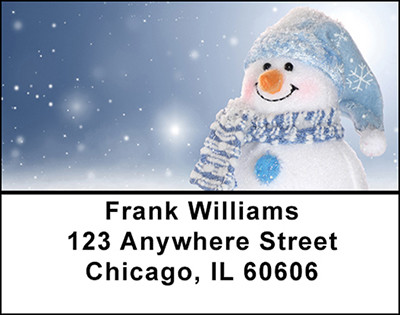 Winters Snowman Address Labels | LBBAO-04