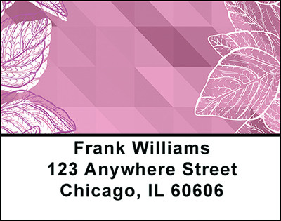 Pink Geometric Nature Address Labels | LBBAP-78
