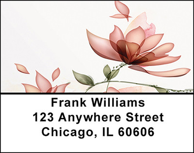 Flower Watercolor Abstract Address Labels | LBBAQ-64