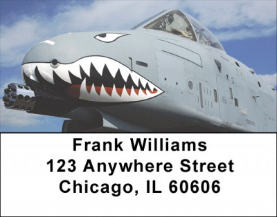 Air Force A-10 Warthog Address Labels | LBGCA-54