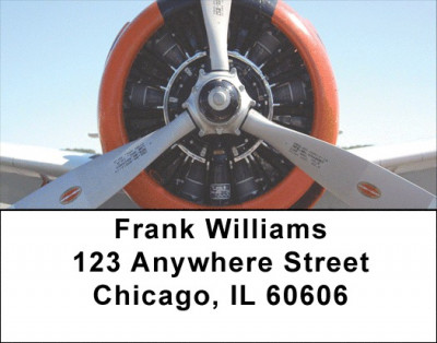 Warbird Radial Engines Address Labels | LBGCA-55