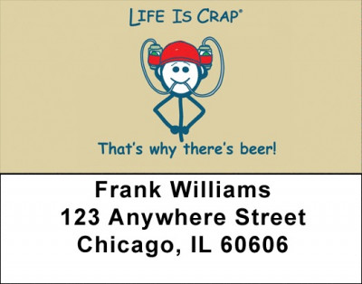 That's Why There's Beer Life Is Crap Address Labels | LBLIC-12