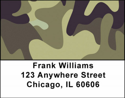 Camouflage Browns and Golds Address Labels | LBMIL-08