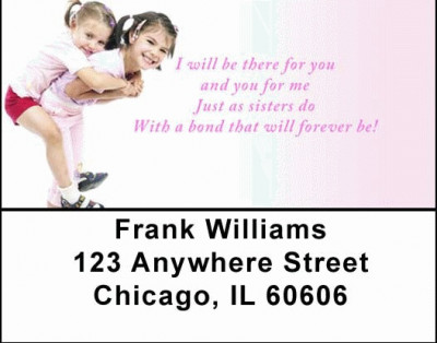 Sisters Address Labels by Sweet Intentions | LBSWE-07