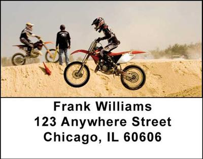 Motocross Cycles Address Labels | LBTRA-09