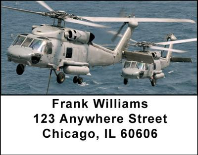 Military Choppers Address Labels | LBTRA-21