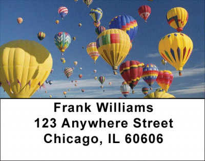 Hot Air Ballons Address Labels | LBTRA-42