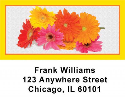 Dasies Address Labels | LBVAL-12
