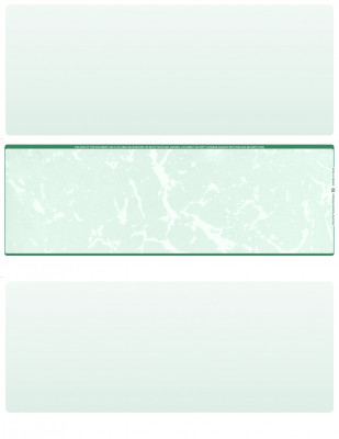 Green Marble Blank Middle Laser Checks | LMC-BLA-GM