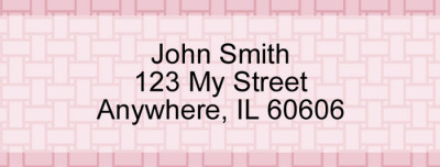 Pink Safety Rectangle Address Label | LRVAL-026