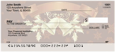Golden Holiday Personal Checks | XMS-10