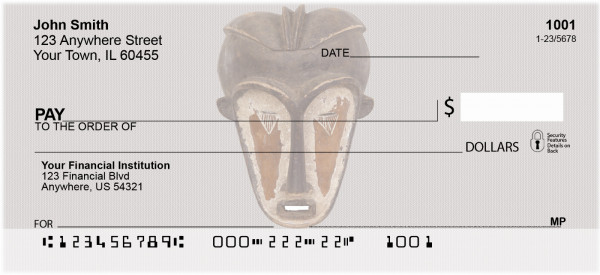 African Masks Personal Checks | AFR-05