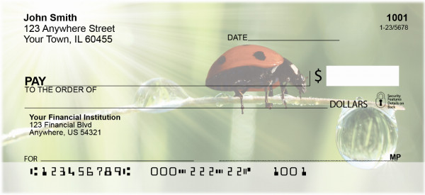 Ladybugs Personal Checks | ANI-32