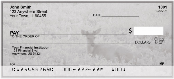 Trail Cam At Dusk Personal Checks | BAA-02