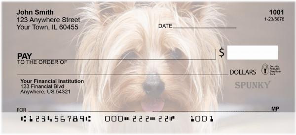 Yorkshire Terrier Personal Checks | BAA-21