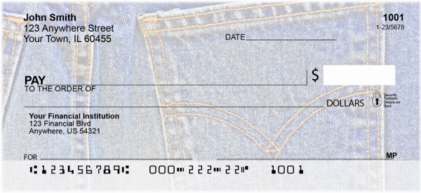 Blue Jeans Expression Personal Checks | BAB-17