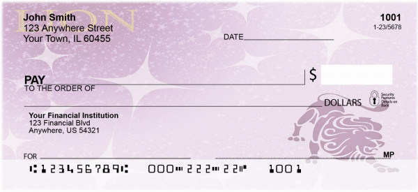 Lion Zodiac Sign Personal Checks | BAB-62