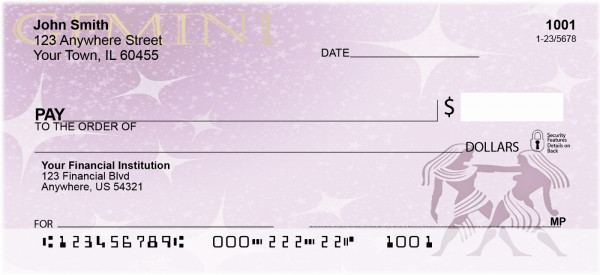 Gemini Zodiac Sign Personal Checks | BAB-65