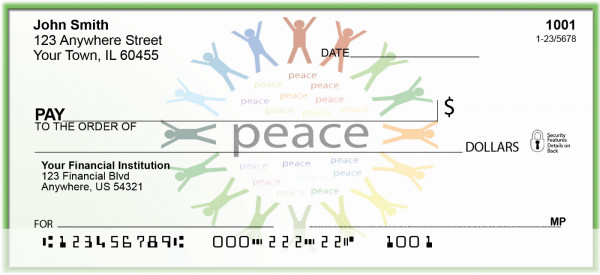 Unity and Peace Personal Checks | BAC-30