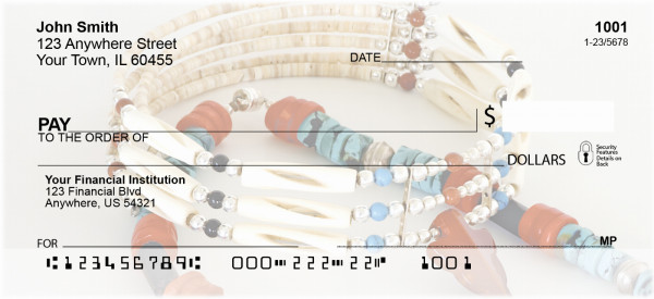 Native American Jewelry Personal Checks | BAC-36