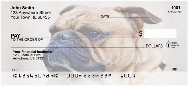 Bull Dog Breed Personal Checks | BAC-59