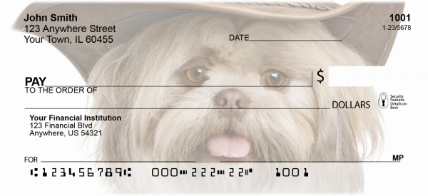 Shih Tzu Dog Portrait Personal Checks | BAC-68