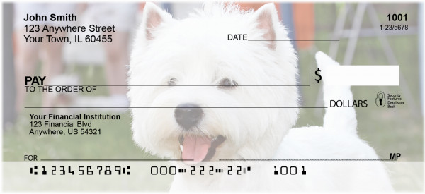 Terrier Dog Personal Checks | BAC-69