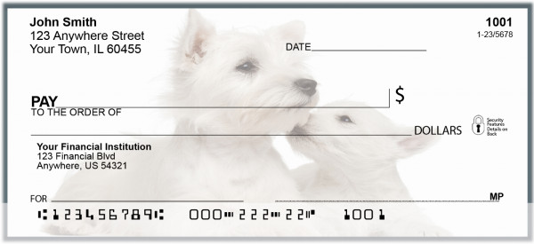 West Highland Terrier Puppies Personal Checks | BAC-73