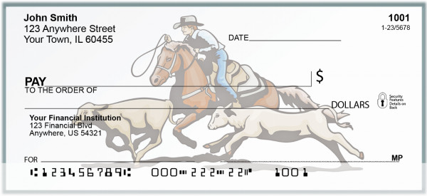 Rodeo Action Personal Checks | BAD-22