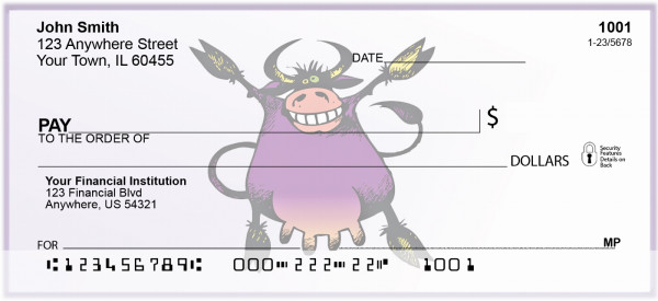 Smiling Cow Personal Checks | BAD-71