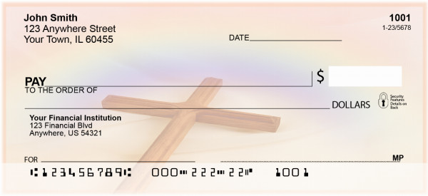 Crosses And Rainbows Personal Checks | BAD-85