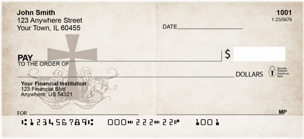 Vintage Cross Personal Checks | BAD-88
