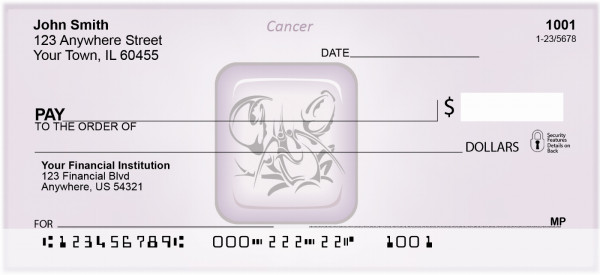 Cancer Astrology Sign Personal Checks | BAE-05