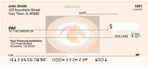 Capricorn Horoscope Sign Personal Checks | BAE-12