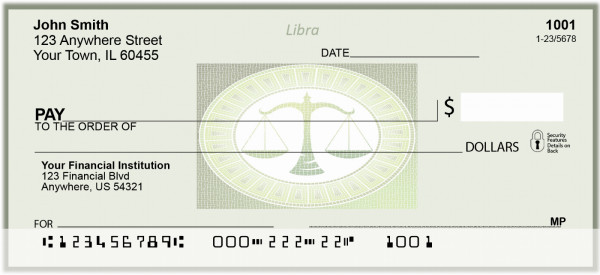 Libra Horoscope Sign Personal Checks | BAE-15