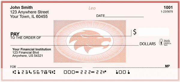 Leo Horoscope Sign Personal Checks | BAE-20