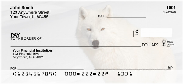 Wolves Of The Arctic Personal Checks | BAE-63