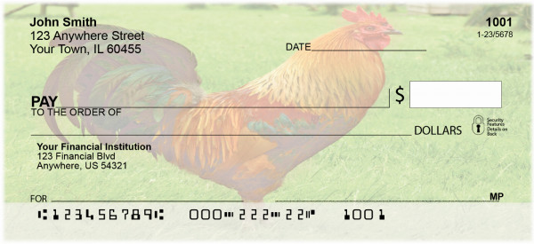 Chickens And Roosters Personal Checks | BAE-73