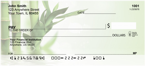 Bamboo on Water Personal Checks | BAE-99