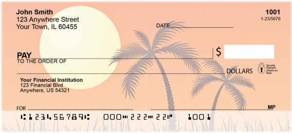 Palm Trees Personal Checks | BAF-16