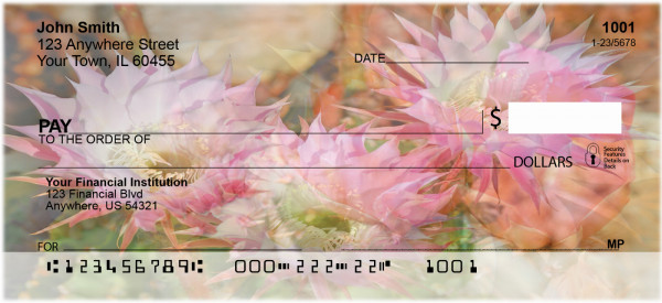 Cactus Flowers Personal Checks | BAF-20