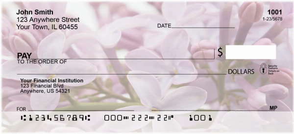 Spring Blossoms Personal Checks | BAF-29